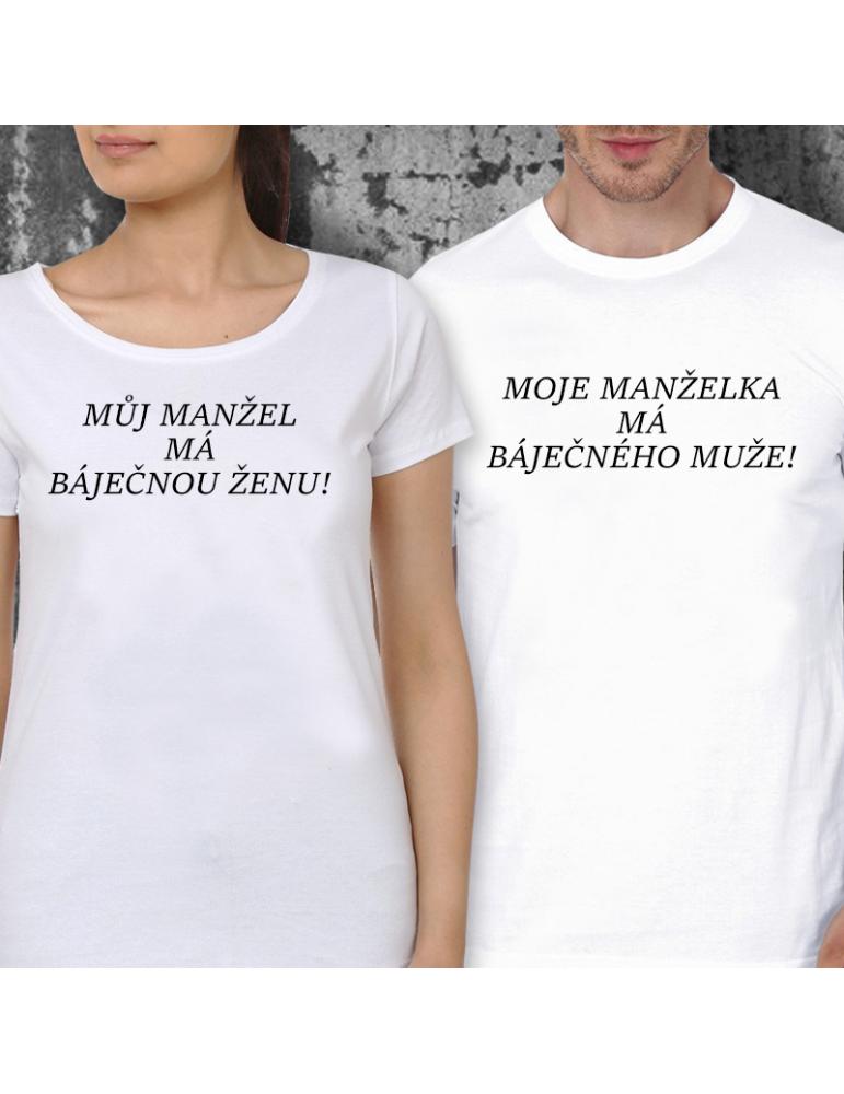 399a8890f77 Párová trička - Báječná žena a muž